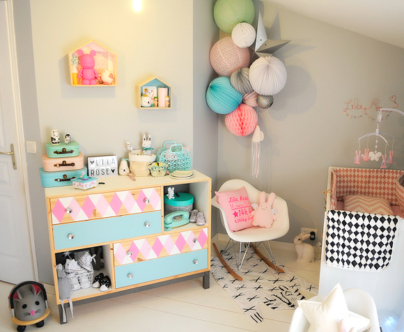 Chambre bebe archives oh my lila rose for Lampion chambre bebe